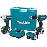 "Makita LXT318 18-Volt LXT Lithium-ion 3-Piece Cordless Tool Combo Kit (1/2"" Hammer Driver-Drill, Impact Driver, LED Flashlight)"