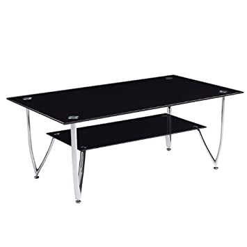 Global Furniture Black Occasional Coffee Table with Chrome Legs