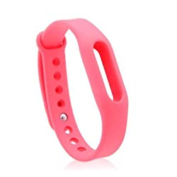 Heartly Wrist Strap Band Belt Wristband Silicone Wearable Case Cover For Xiaomi Mi Band - Cute Pink