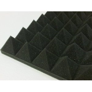 "Acoustic Foam (Single) - Pyramid 3"" 12"" X 12"" Covers 1Sq Ft - Soundproofing/Blocking/Absorbing Acoustical Foam - Made In The Usa!"