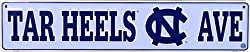 Prideplates North Carolina Tarheels Sport Team Ave Street Sign Display