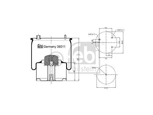 Febi Bilstein 38011 Boot, air suspension