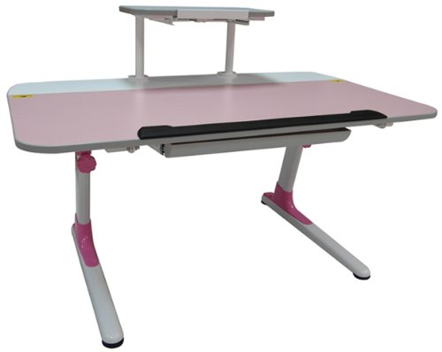 Ore International S-Mc120Pnk Kid'S Ergonomic Desk With Keyboard Tray, Pink front-980873