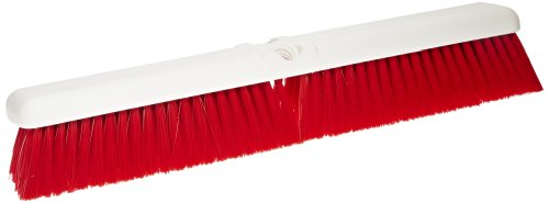"""Carlisle 4189005 Sparta Spectrum Omni Sweep Floor Sweep, Synthetic Bristles, 18"""" Overall Length, Red front-61184"""