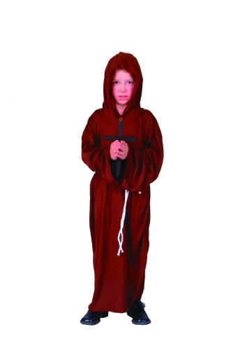 Child's Medieval Monk Robe Costume (Sz: Sm 4-6)