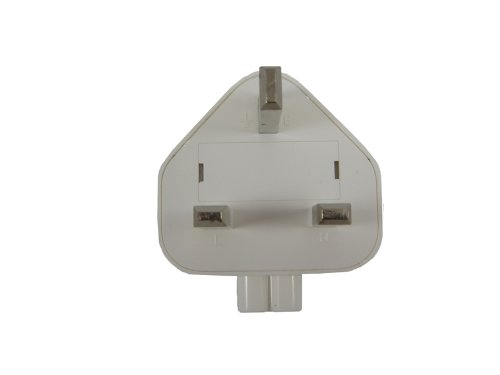 Uk Adapter For Apple Macbook, Ibook, Ipod, Ipad, Airport, Iphone Wall Charger Plug Adapter For United Kingdom (Uk Outlets). Uk Travel Adapter Plug For Mac. 220V Ac Adapter Electric Outlet Adapter With Two-Pins (Twin Pin).