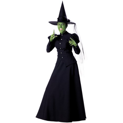 Theatrical Wicked Witch Adult Costume with Hat
