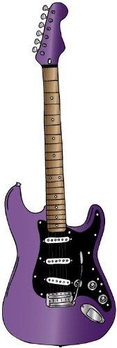 Purple Amethyst Electric Rock Star Guitar Wall Stickers / Rock Star Decals