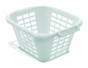 ADDIS 24 Litre Square Laundry Basket, White