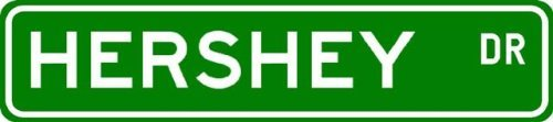 HERSHEY Street Name Sign ~ Personalized Family Lastname Sign ~ Gameroom, Basement, Garage Sign – 6 x 24 inches