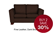 Urbino Petite Sofa - Leather