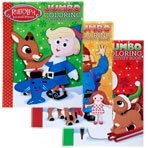 Rudolph the Red-Nosed Reindeer Jumbo Coloring and Activity Book - 1