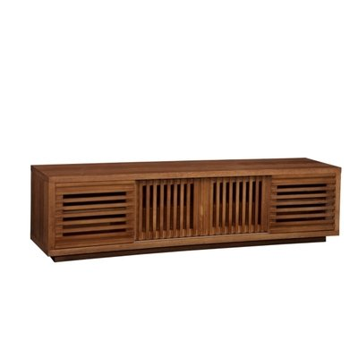 Buy Low Price Furnitech FT82WS 82″ Contemporary Rustic TV Stand Media Console in White Oak w/ Warm Honey Finish (FT82WS)