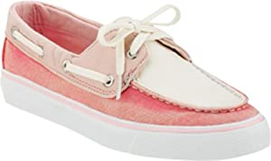 Sperry Top-Sider Women's Biscayne,Pink/Rose/White Canvas,US 7.5 M