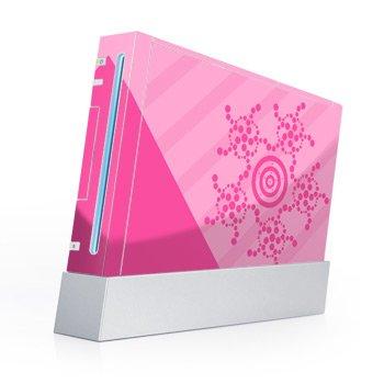 Wii Skin + nunchuck skin Skin-Crop Circles Pink