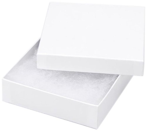 Darice 3 1/2-Inch by 3 1/2-Inch by 7/8-Inch Jewelry Box with Filler, 6-Pack