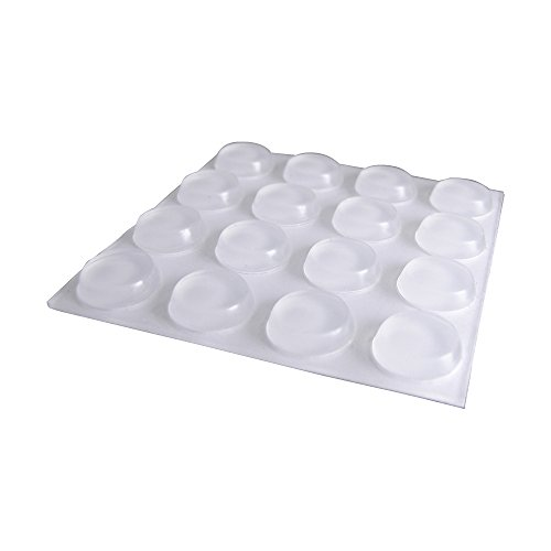 Feltgard 9967 13mm Round Furniture Protectionpads Vinyl (Pack of 16)- Clear