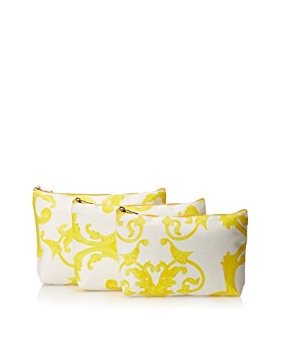 Indian Summer Women's Regal Cosmetic Bags (Set of 3), Yellow