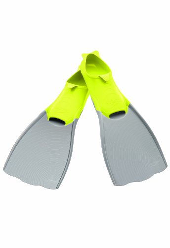 Speedo Power Fin, Grey/Lime Green, X-Small