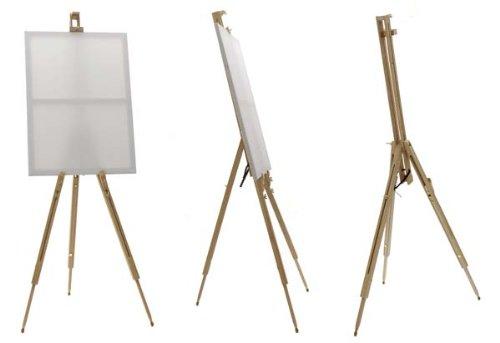 Caballete para pintar de madera plegable