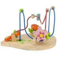 imaginarium wood flower bead maze early