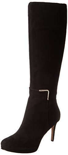 Nine West Women'S Evah-Wide Calf Riding Boot Boot,Black,8 M Us
