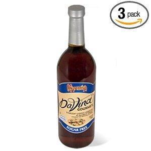 DaVinci Gourmet Classic Sugar Free Syrup, Kahlua, 25.4-Ounce Bottles (Pack of 3)