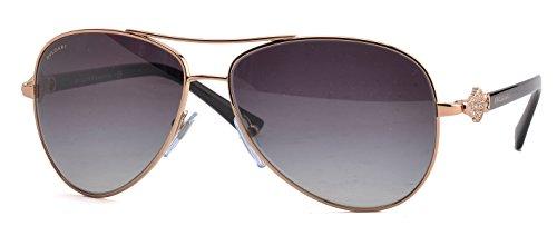 Bvlgari 6073B 376/8G Gold 6073B Aviator Sunglasses