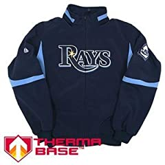 Tampa Bay Rays MLB Baseball Majestic Therma Base Dugout Coat Jacket ~ Adult Size... by Majestic Athletic