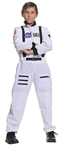 Boys Astronaut White Kids Child Fancy Dress Party Halloween Costume