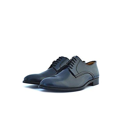 Scarpe uomo Soldini classiche numero 44 in pelle blu 19578BLU