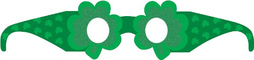 Creative Converting St. Patrick's Day Paper Shamrock Party Sunglasses, 6 Pairs of Eye Glasses Per Package