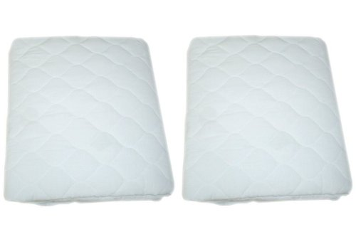 White American Baby Company Waterproof Fitted Quilted Crib and Toddler Protective Pad Cover, 2 Pack