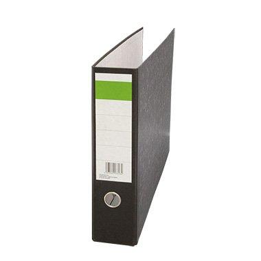 Ordner für: DIN A3 quer, Rückenbreite: 75 mm, 100% recyceltes Papier, Wolkenmarmor, schwarz, Griffloch
