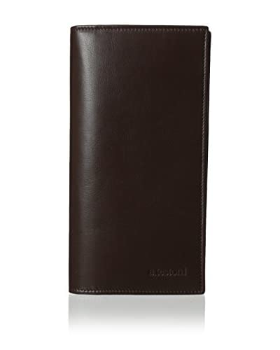 a.testoni Men's Nappa Calf Bi-Fold Wallet