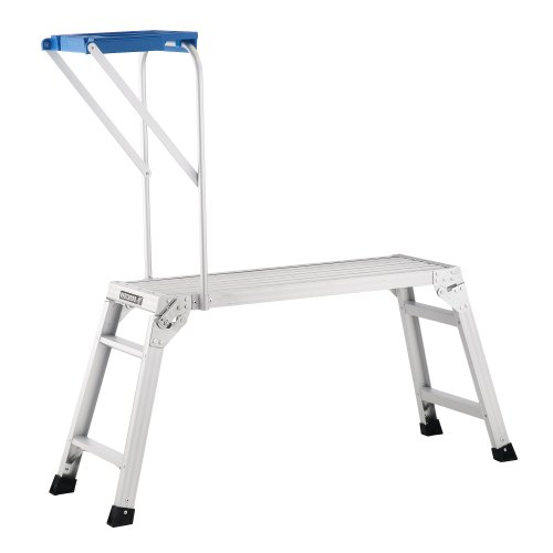 Pentagon Tool Professional Aluminum Drywall Bench With Work Tray Table