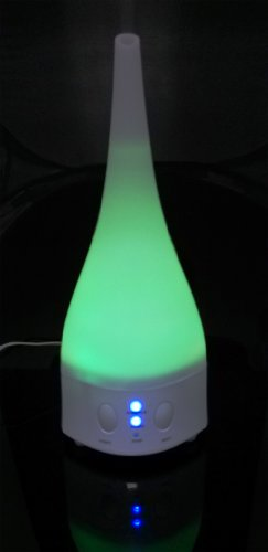 ForTech® Optimus Ultrasonic Aromatherapy Humidifier Air Diffuser with 7c LED Changing Lights, Tap Water Prefer (20099B Optimus)