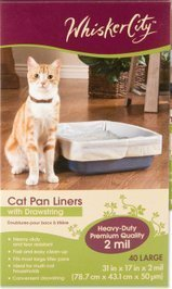 Whisker City Cat Pan Liner with Drawstring, 40 Large (Whisker City Cat Pan Liners compare prices)
