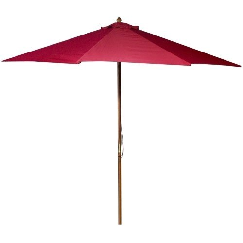 Jordan Manufacturing Wood Market Umbrella Red (Umbrella Company compare prices)