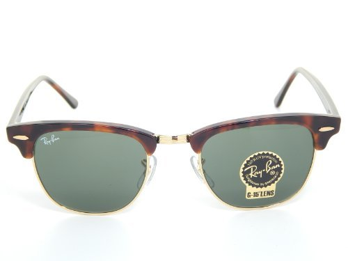 Ray Ban Rb3016 Clubmaster Sunglasses Mock Tortoise Arista Frame Afsm
