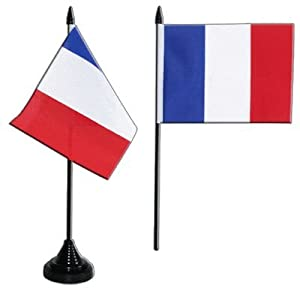 Digni® Drapeau de table France, mini drapeau - 10 x 15 cm