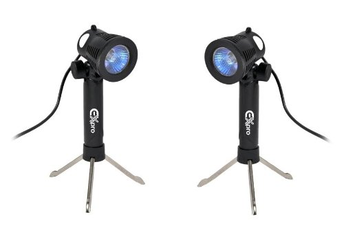 Ex-Pro Mini L200 15 LED Continuous Daylight Lighting kit for Photogrphic Light Cubes (2 Lights).