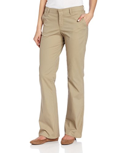 Dickies Women's Flat Front Stretch Twill Pant, Desert Sand, 8 Regular (Womens Casual Pants compare prices)