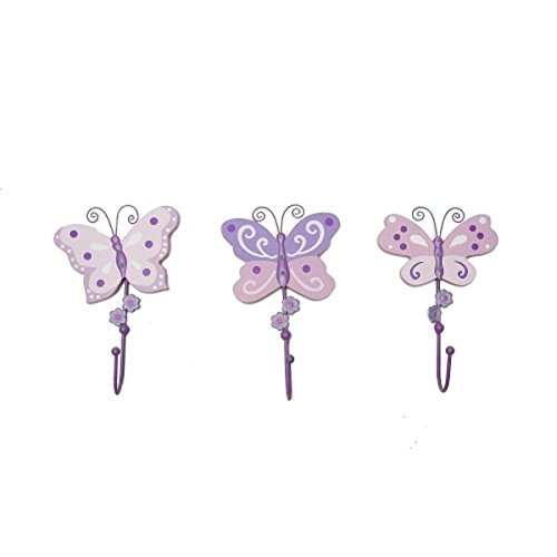 "Babies""R""Us Butterfly Baby Girl Wall Decor Set Pink - 1"