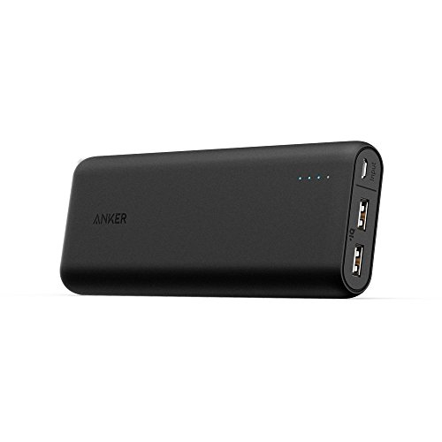 Anker 20000mAh Portable Charger PowerCore 20100 - Ultra High Capacity Power Bank with 4.8A Output, PowerIQ Technology for iPhone, iPad & Samsung Galaxy & More - Black