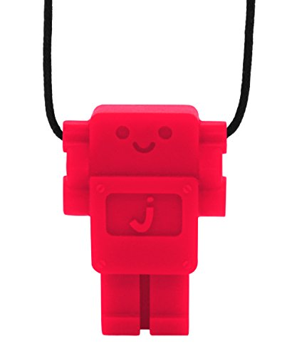 Jellystone Robot Pendant Teether - Scarlet Red - 1