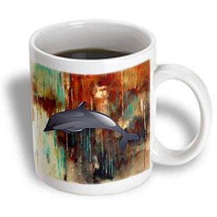 Mug_178074_2 Cassie Peters Digital Art - Dolphin - Mugs - 15Oz Mug