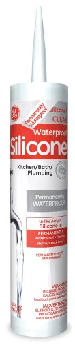 General Electric GE612 Tub and Tile Silicone  I Caulk, 10.1-Ounce, Clear