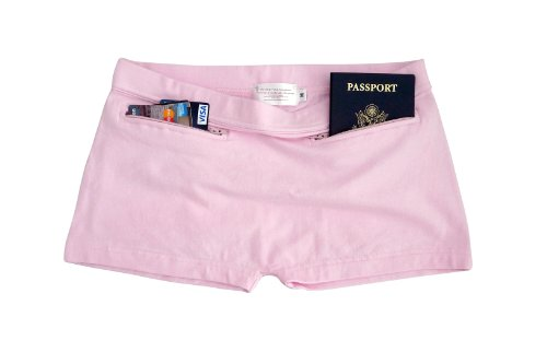Clever Travel Companion Pickpocket and Loss Proof Women's Travel Safety Underwear with Hidden Security Pockets