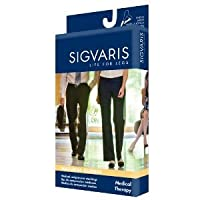 Sigvaris Natural Rubber Knee High 40-50mmHg Open Toe, L2, Beige